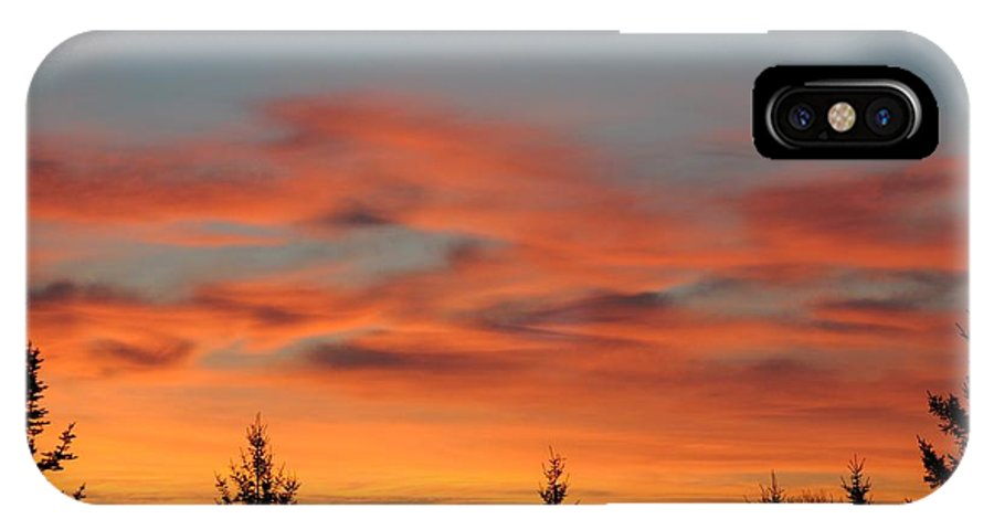 Sunrise IPhone X Case featuring the photograph Moose Valley Sunrise by Sandra Updyke