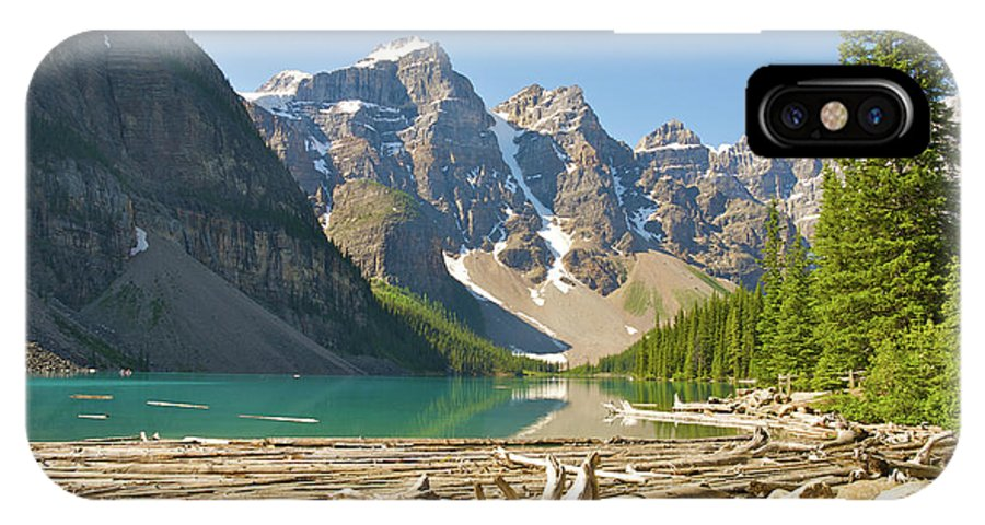 Moraine Lake IPhone X Case featuring the photograph Moraine Lake - Canadian Rockies by Andre Distel
