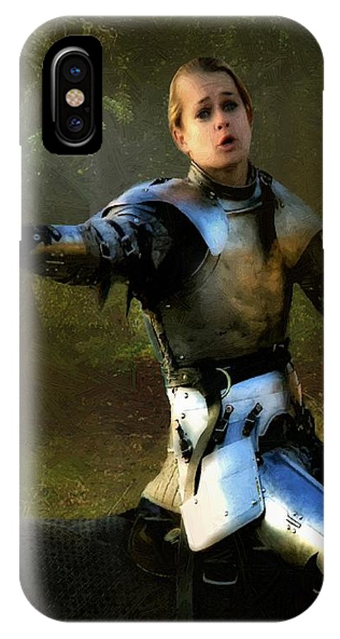 Knight IPhone X Case featuring the painting Mordred Rallies His Troops by RC DeWinter
