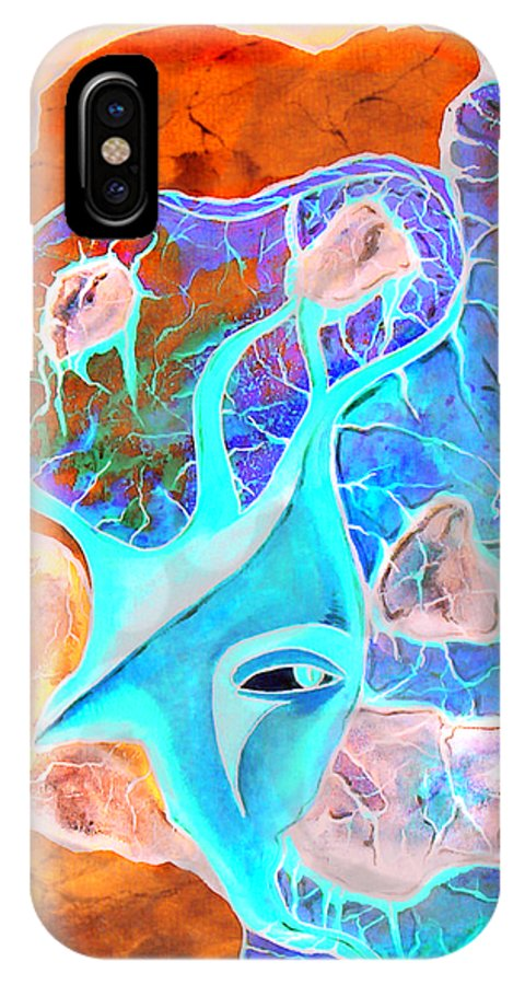 Surrealism Color Sky Haven Stones IPhone X Case featuring the painting More seconds in my head by Veronica Jackson