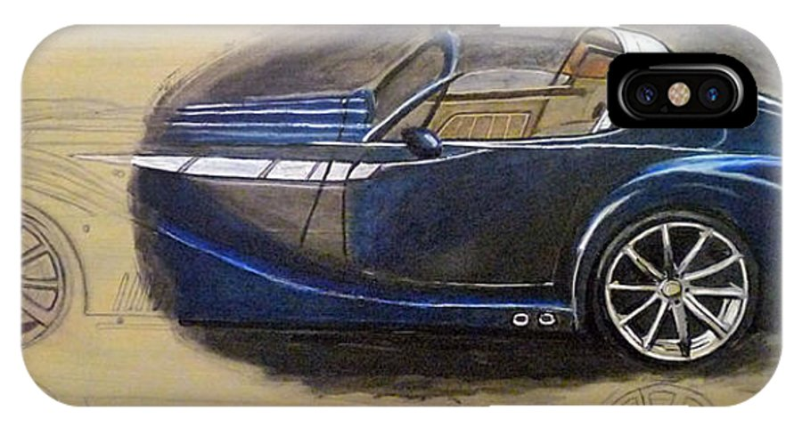 Cars IPhone X Case featuring the painting Morgan Aero by Richard Le Page