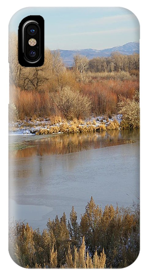 River IPhone X Case featuring the photograph Morning Chill by Gale Cochran-Smith