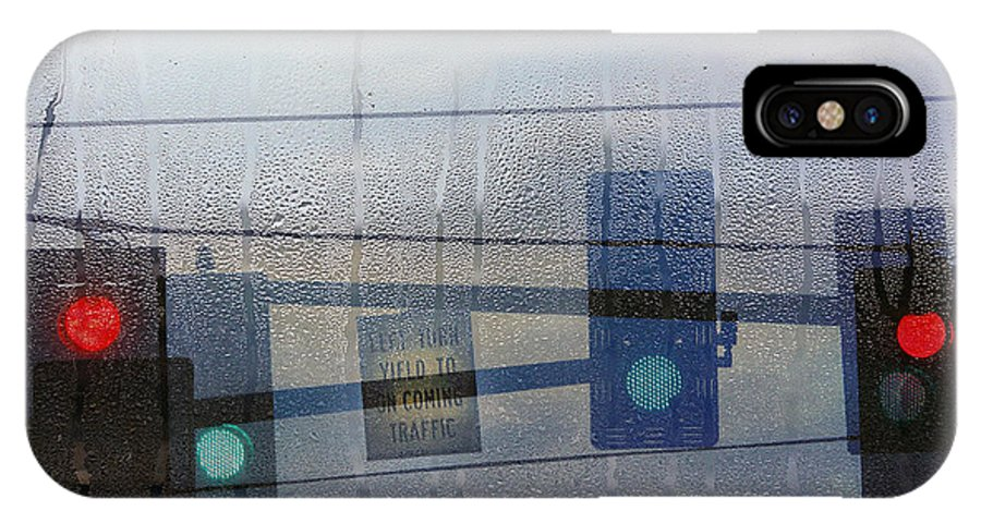 Rain IPhone X Case featuring the photograph Morning Commute by Rebecca Cozart
