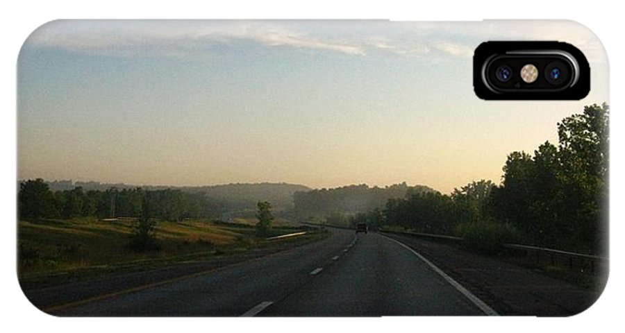 Landscape IPhone Case featuring the photograph Morning Drive by Rhonda Barrett