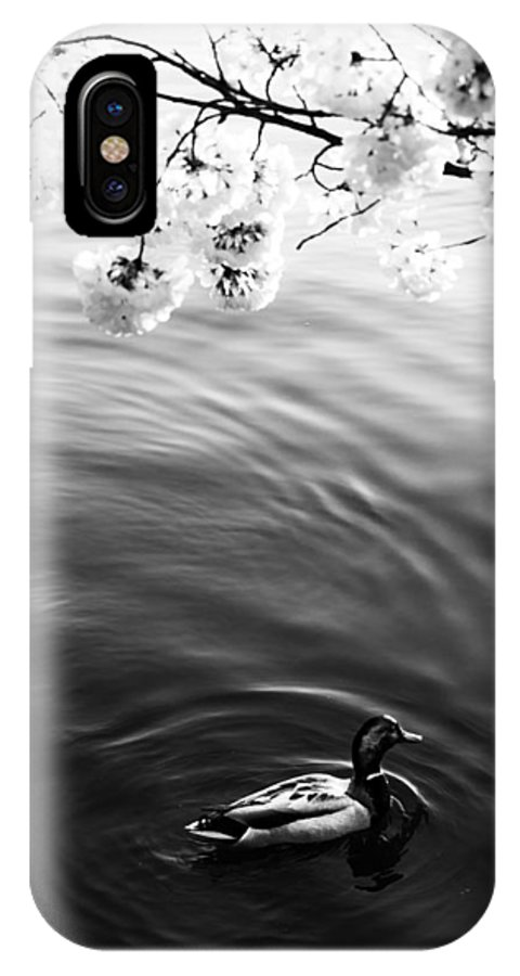 IPhone X Case featuring the photograph Morning Duck by Joshua Lebenson