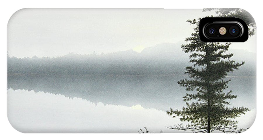 Landscapes IPhone X Case featuring the painting Morning Fog by Kenneth M Kirsch
