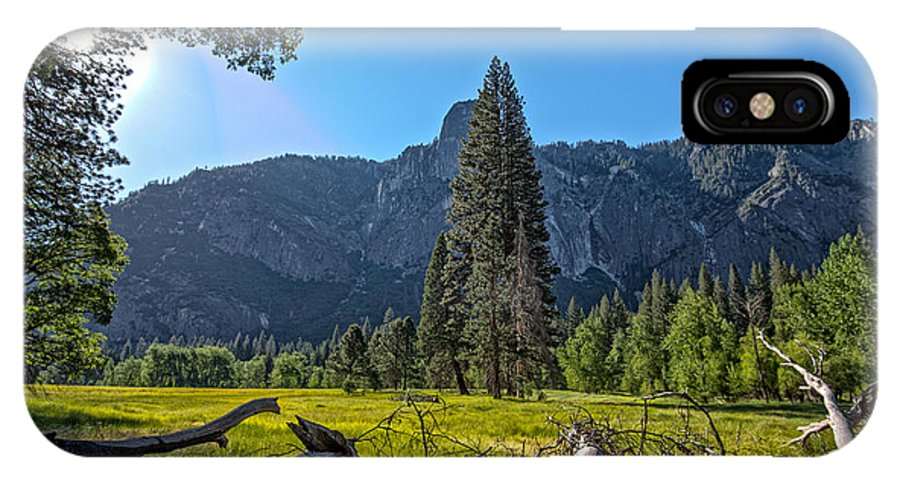 Yosemite IPhone X Case featuring the photograph Morning In The Meadow by Phil Abrams