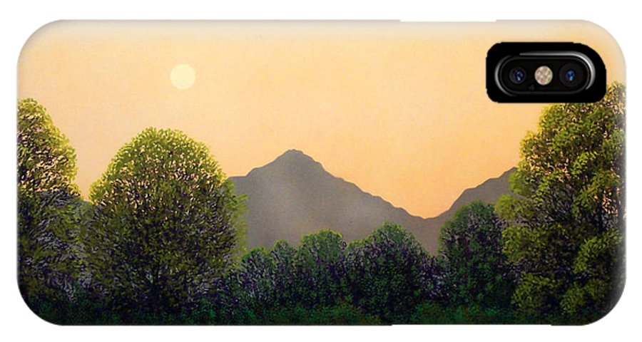 Landscape IPhone X Case featuring the painting Morning Light by Frank Wilson