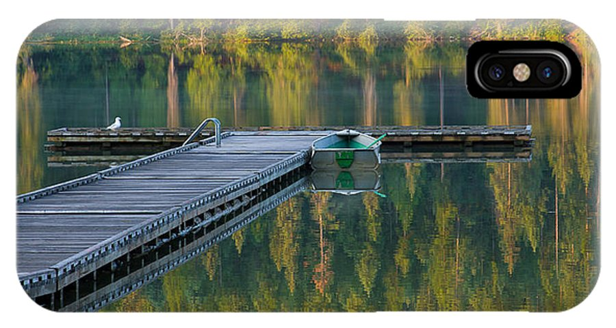 Dock IPhone X Case featuring the photograph Morning Light by Idaho Scenic Images Linda Lantzy