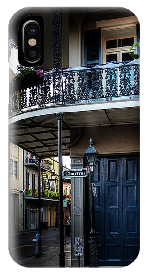 Chartres Street IPhone X Case featuring the photograph Morning Light In The French Quarter by Chrystal Mimbs