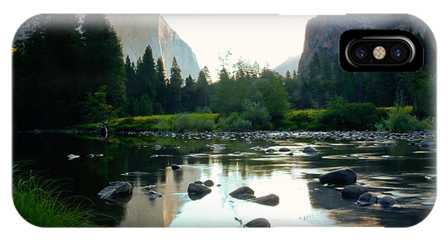 California IPhone X Case featuring the photograph Morning Light On El Capitan by Idaho Scenic Images Linda Lantzy