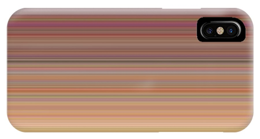 Line IPhone X / XS Case featuring the digital art Morning Light by Zach Martis