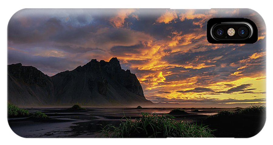 Stokksnes IPhone X Case featuring the photograph Morning Mood by Rune Askeland