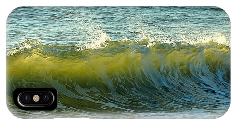 Beach IPhone X Case featuring the photograph Morning Ocean Break by JAMART Photography