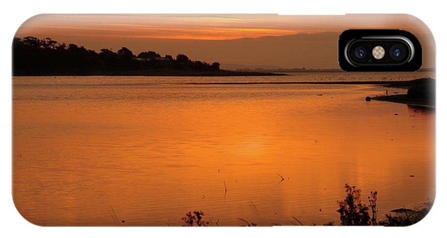 Estruary Sept 2010 IPhone X Case featuring the photograph Morning On The Estuary 6.45 by Martina Fagan