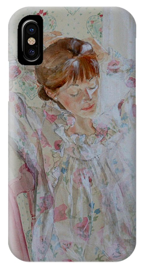 Morning IPhone X Case featuring the painting Morning Ritual by Jean Blackmer