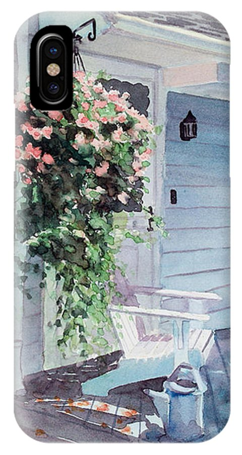 Flowers Watercolor IPhone Case featuring the painting Morning Shadows by Laura Lee Zanghetti