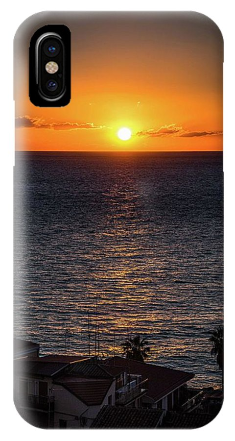 Sunrise IPhone X Case featuring the photograph Morning Sun by Larkin's Balcony Photography