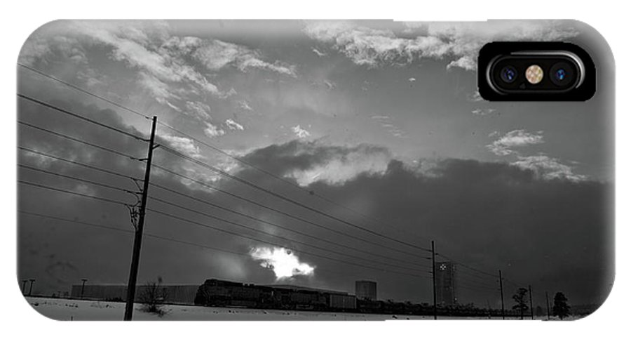 Seshat IPhone X Case featuring the photograph Morning Train In Black And White by Scott Sawyer