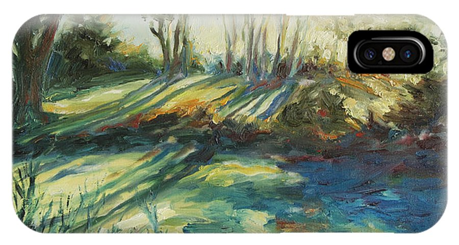 Sunrise IPhone Case featuring the painting Morning Walk by Rick Nederlof