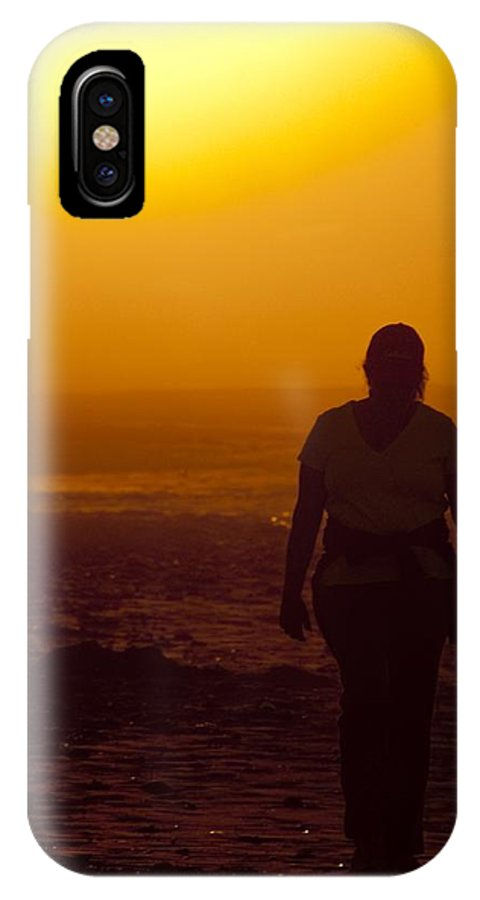 Sunrise IPhone X Case featuring the photograph Morning Walk by Steven Natanson