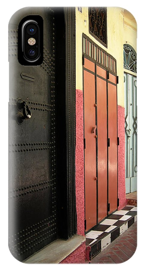 Morocco IPhone X Case featuring the photograph Moroccan Doors by Fay Lawrence