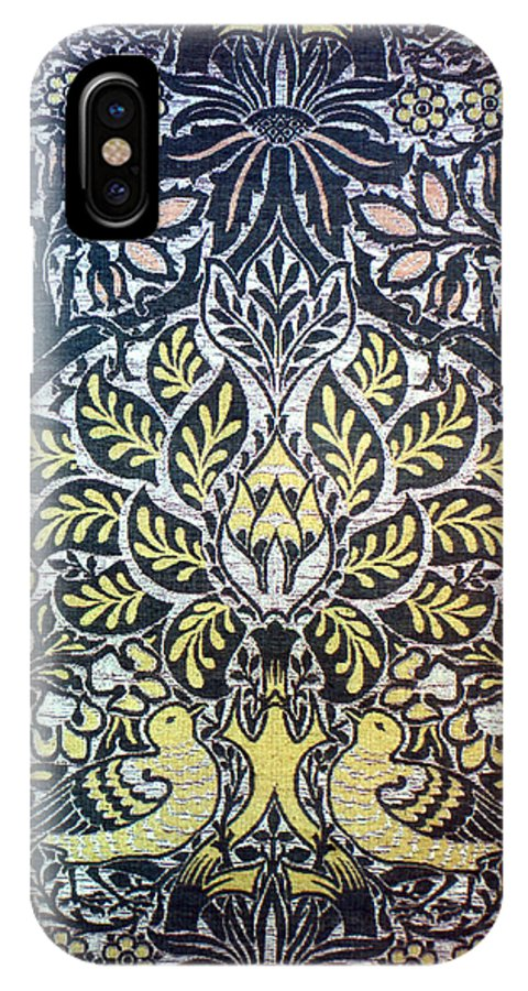 1879 IPhone X Case featuring the photograph Morris: Dove & Rose, 1879 by Granger
