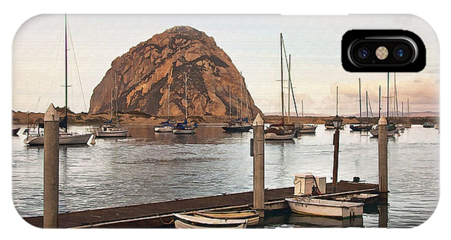 Morro Bay IPhone X / XS Case featuring the digital art Morro Bay Small Pier by Sharon Foster