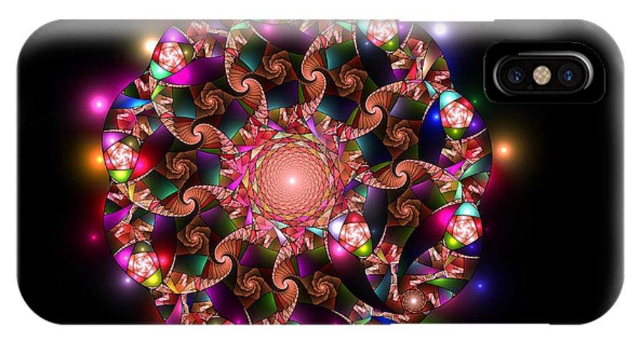 Elena Riim IPhone X Case featuring the digital art Mosaica by Elena Riim