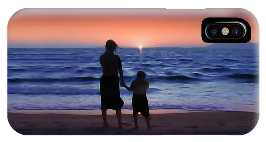 Sunrise IPhone X Case featuring the photograph Mother And Daughter by Gravityx9 Designs