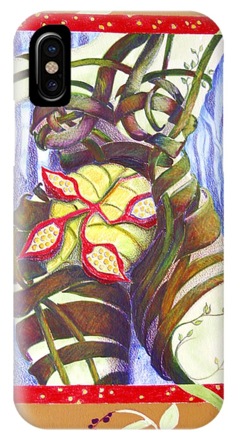 Mother Earth IPhone X Case featuring the painting Mother Earth by Diana Davenport