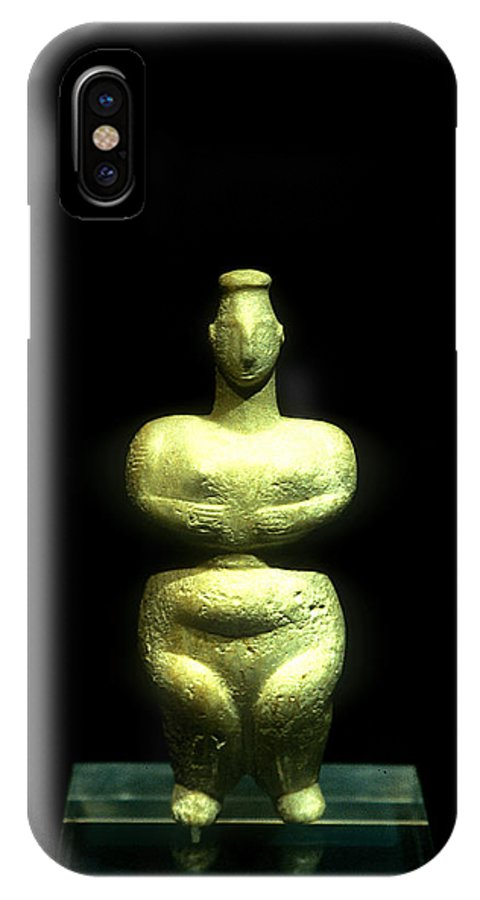 Neolithic Figurine IPhone X / XS Case featuring the photograph Mother Earth Goddess by Andonis Katanos