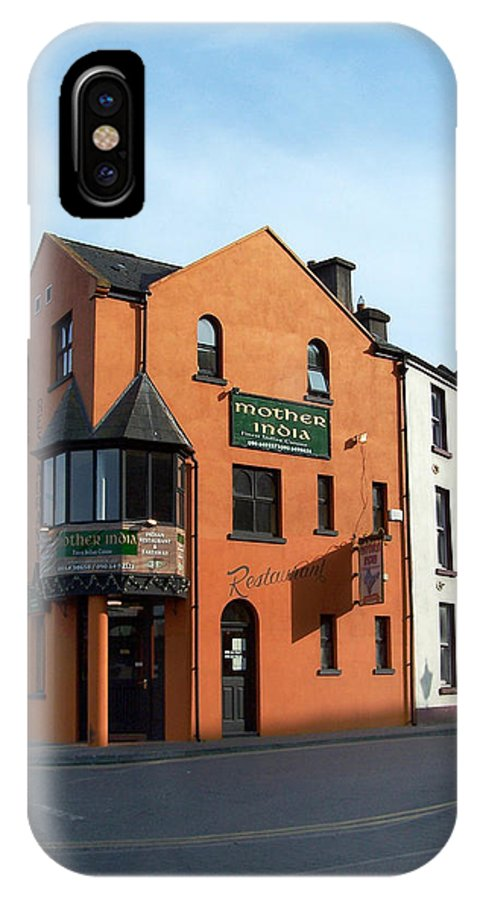 Ireland IPhone X Case featuring the photograph Mother India Restaurant Athlone Ireland by Teresa Mucha