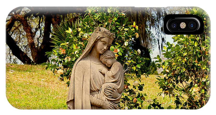 Holy Mary And Child IPhone X Case featuring the photograph Mother Mary by Susanne Van Hulst