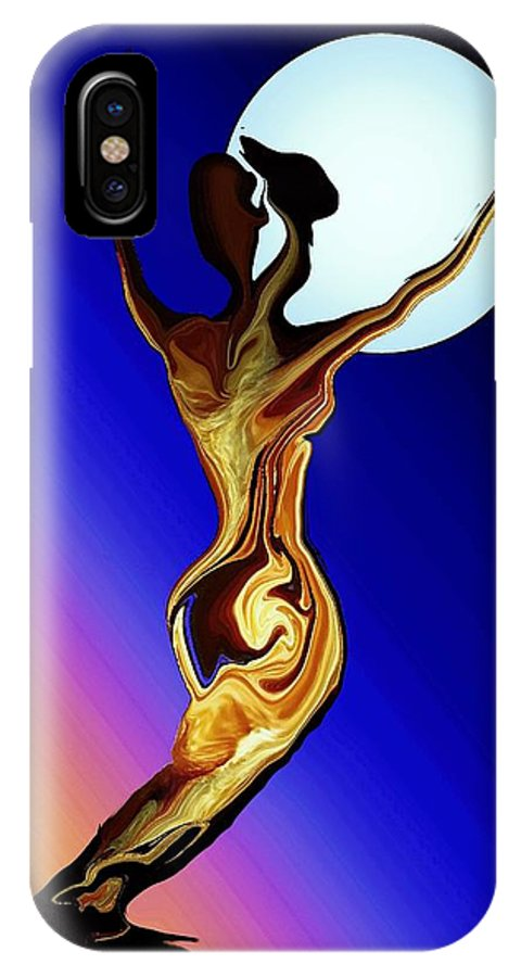 Tree Female IPhone X Case featuring the digital art Mother Nature by Robin Monroe