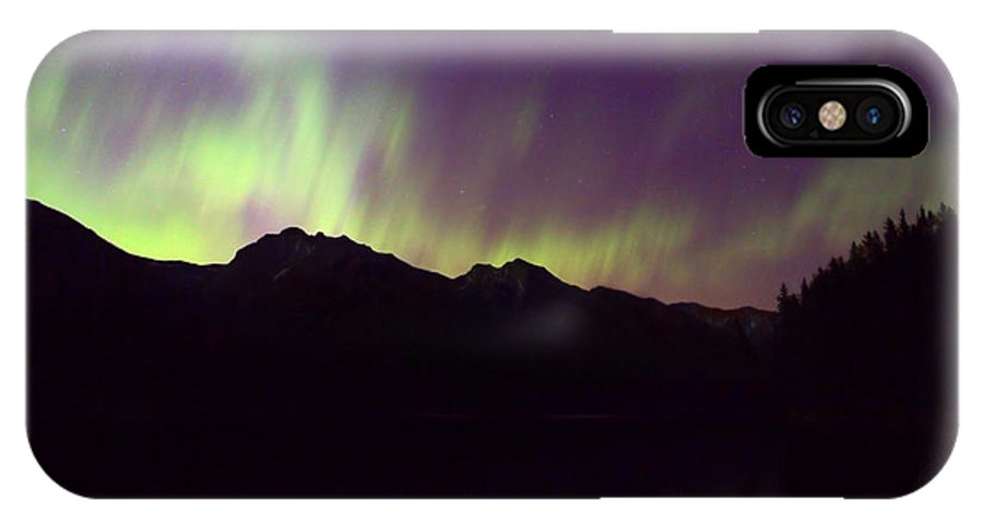 Johnson Lake IPhone X / XS Case featuring the photograph Mother Natures Fireworks by James Anderson