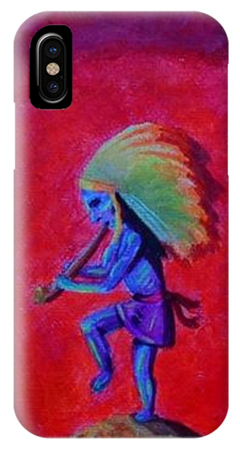 Mother's Helper IPhone X Case featuring the painting Mother's Helper by Bonnie Blanco