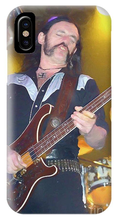 Motorhead Lemmy Kilmister Painting IPhone X Case