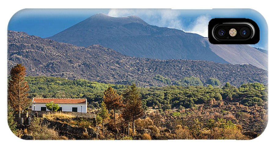 Italy IPhone X Case featuring the photograph Mount Etna by Johan Elzenga