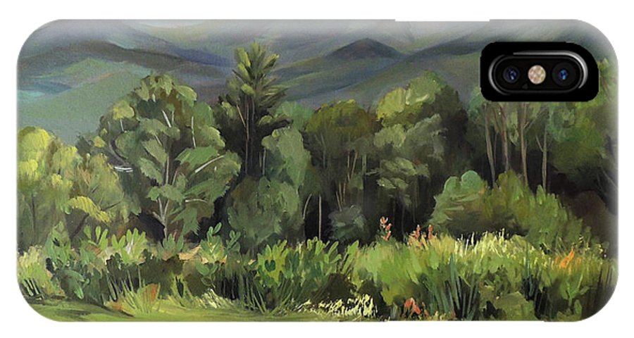 White Mountain Paintngs IPhone Case featuring the painting Mount Lafayette From Sugar Hill New Hampshire by Nancy Griswold
