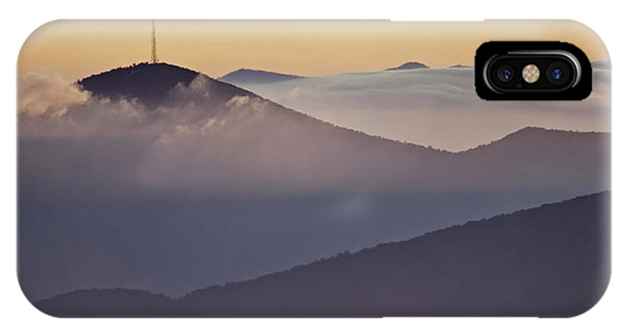 Parkway IPhone X Case featuring the photograph Mount Pisgah In Morning Light - Blue Ridge Mountains by Rob Travis
