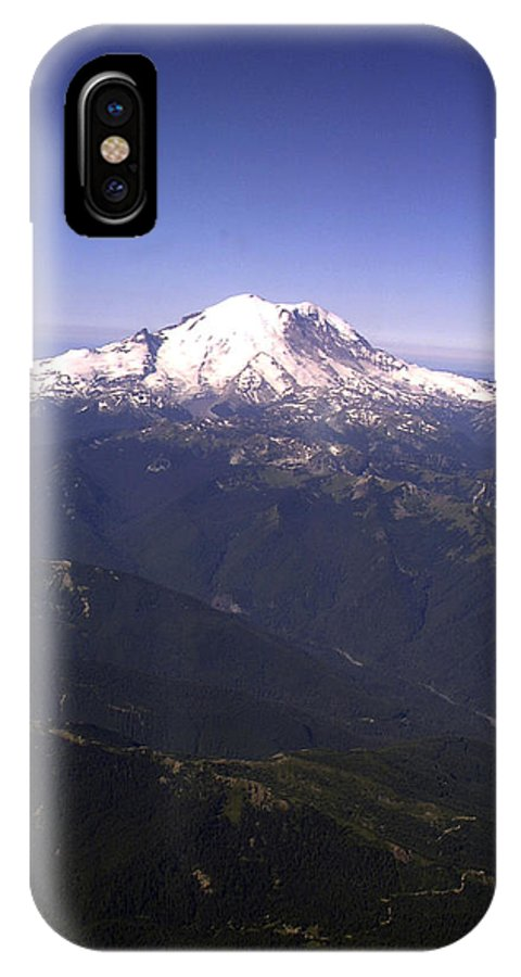 Mount Rainier IPhone X Case featuring the photograph Mount Rainier Washington State by Merja Waters