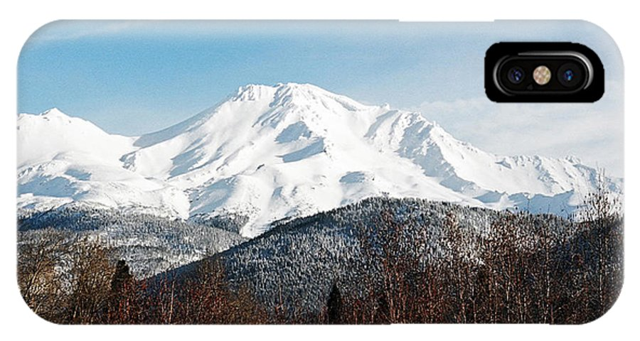 Mount Shasta IPhone X Case featuring the photograph Mount Shasta by Anthony Jones