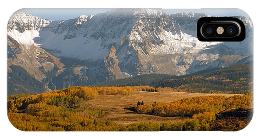 Mount Sneffels IPhone X Case featuring the photograph Mount Sneffels by David Lee Thompson