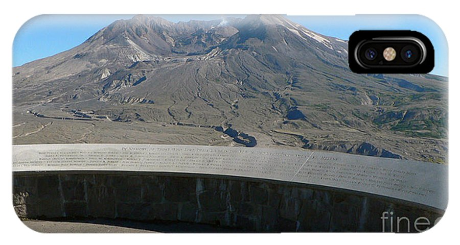 Volcano IPhone Case featuring the photograph Mount St. Helen Memorial by Larry Keahey