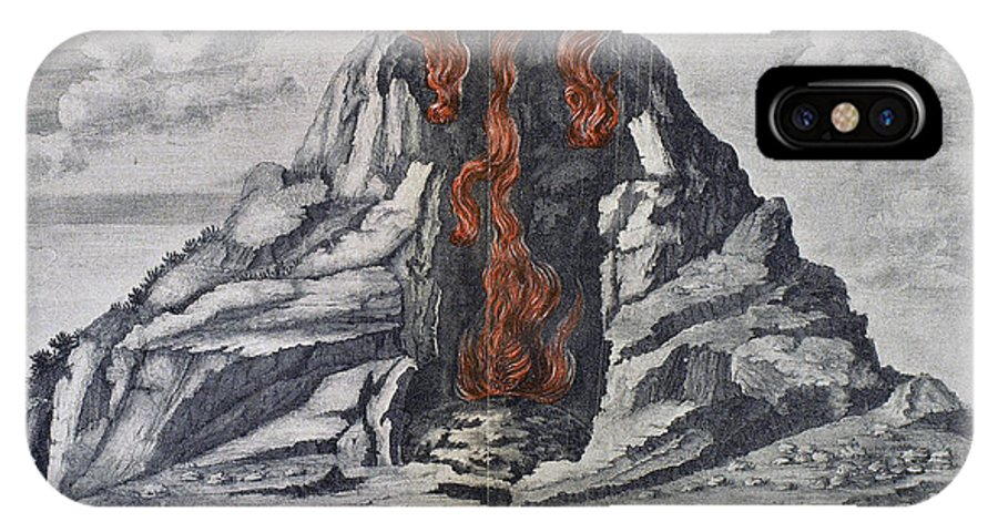 1665 IPhone X Case featuring the photograph Mount Vesuvius, 1665 by Granger