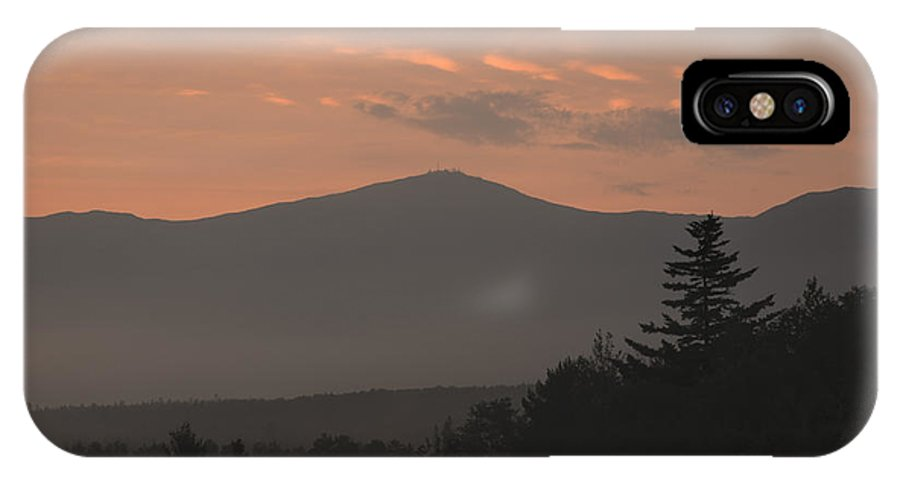 Silhouette IPhone X Case featuring the photograph Mount Washington - Bretton Woods New Hampshire Usa by Erin Paul Donovan