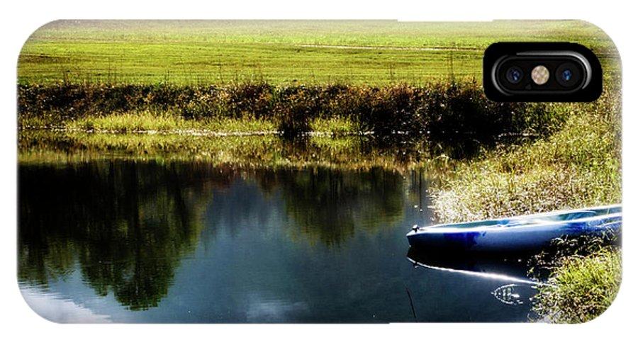 Kayak IPhone X Case featuring the photograph Mountain Kayak by Greg Mimbs