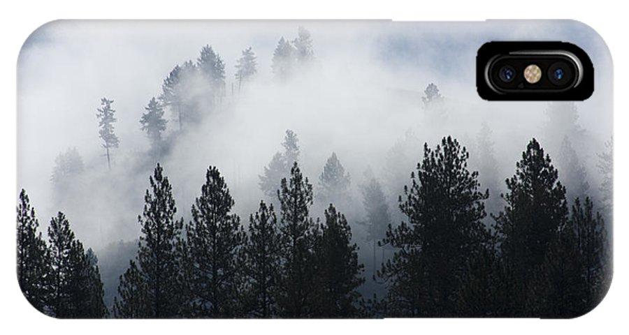 Fog IPhone X Case featuring the photograph Mountain Mist by Idaho Scenic Images Linda Lantzy