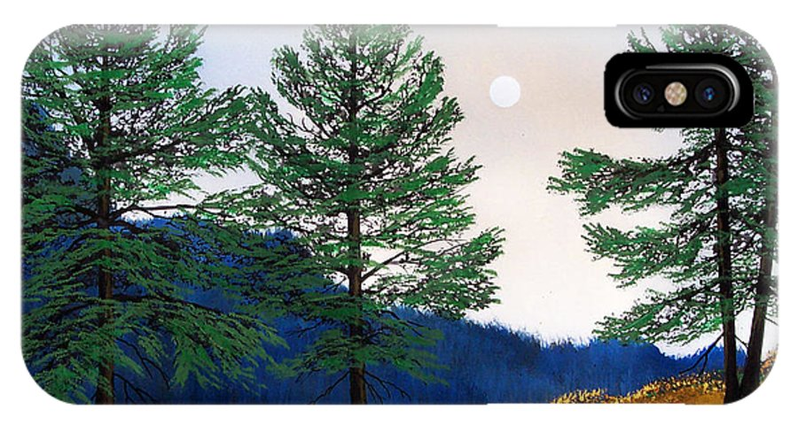 IPhone Case featuring the painting Mountain Pines by Frank Wilson